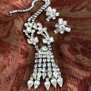 Jewelry - Rhinestone Necklace & Earrings